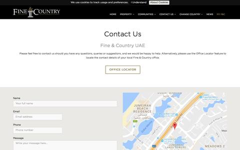 Screenshot of Contact Page fineandcountry.com - Contact Us - captured Nov. 25, 2016