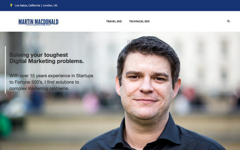Screenshot of Home Page martinmacdonald.com - Martin MacDonald – Marketing Consultant - captured May 10, 2018