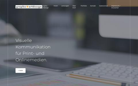 Screenshot of Home Page graphic-artdesign.de - Home | graphic-artdesign | Visuelle Kommunikation für Print- und Onlinemedien. - captured June 11, 2018