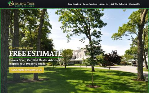 Screenshot of Home Page sterlingtree.com - Sterling Tree and Lawn - captured Jan. 26, 2015