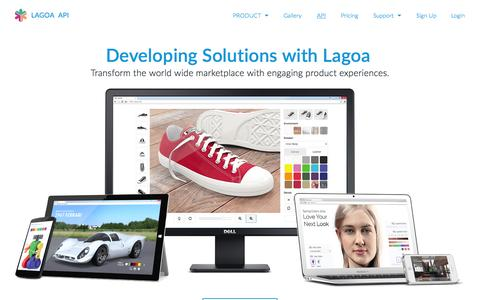Screenshot of Developers Page lagoa.com - API   LAGOA - captured June 16, 2015