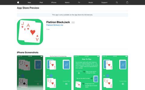 Flatiron BlackJack on the AppStore