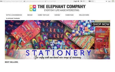 Screenshot of Home Page theelephantcompany.com - Buy Home And Lifestyle Accessories Online | The Elephant Company - captured Sept. 22, 2014
