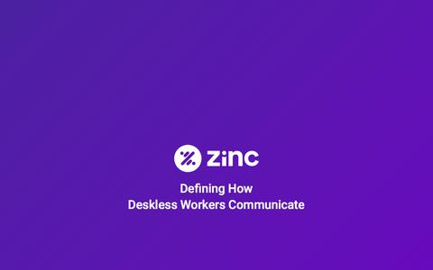 Company Communication App - Zinc