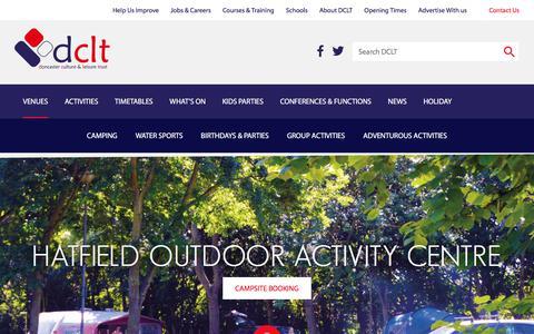 Screenshot of dclt.co.uk - Hatfield Outdoor Activity Centre | DCLT - captured Feb. 7, 2018