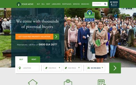 Screenshot of Home Page your-move.co.uk - Your Move: Estate Agents and Letting Agents in the UK - captured Jan. 10, 2016