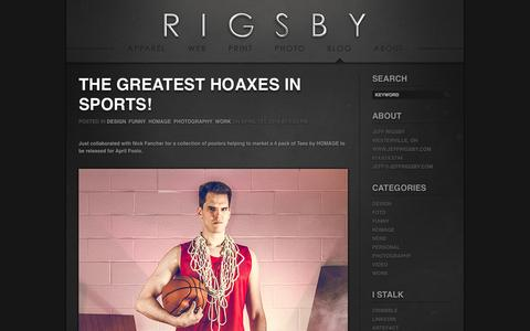 Screenshot of Blog jeffrigsby.com - Blog «  Jeff Rigsby - captured Oct. 4, 2014