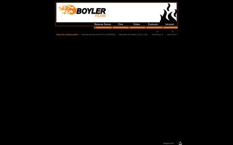 Screenshot of Home Page boylerfilms.com - .: BOYLER :. - captured Oct. 5, 2014