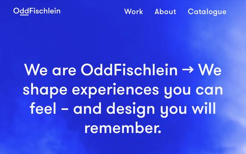 Screenshot of Home Page oddfischlein.com - OddFischleinHome - OddFischlein - captured Sept. 21, 2018