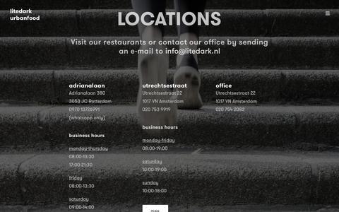Screenshot of Locations Page litedark.nl - Locations – litedark - captured May 13, 2017