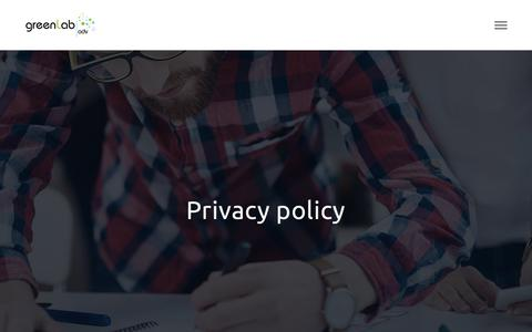 Screenshot of Privacy Page greenlabadv.it - Privacy policy - greenLab adv - captured July 25, 2018