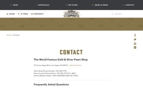 Screenshot of Contact Page gspawn.com - Contact Gold & Silver Pawn - captured Jan. 21, 2016