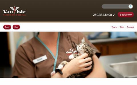 Screenshot of FAQ Page vanislevet.com - FAQs - Van Isle Veterinary Hospital - captured Oct. 19, 2018