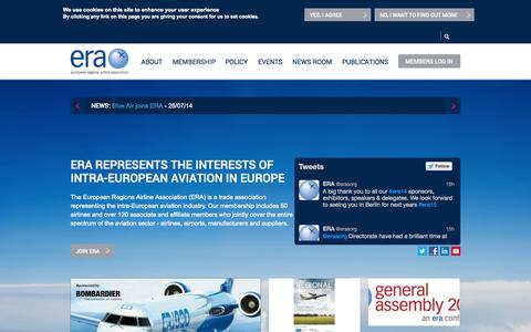 Screenshot of Home Page eraa.org - Welcome to ERA | ERA - captured Oct. 3, 2014