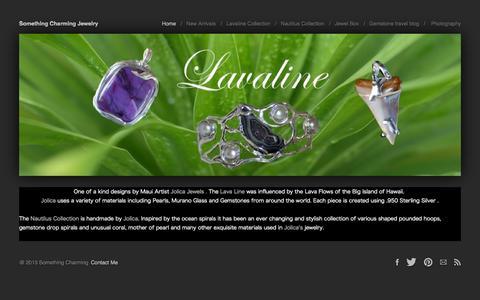 Screenshot of Home Page somethingcharming.com - Home - captured Sept. 4, 2015
