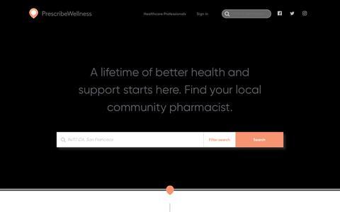 Screenshot of Home Page prescribewellness.com - Home | PrescribeWellness - captured March 28, 2019
