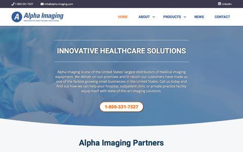 Screenshot of Home Page alpha-imaging.com - Alpha Imaging - captured Jan. 15, 2020