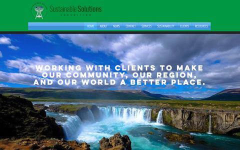 Screenshot of Home Page sustainablesolutionsconsulting.com - Sustainable Solutions Consulting l Tahoma, Washington l - captured Sept. 21, 2018