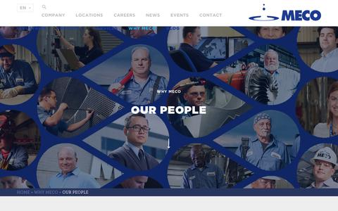 Screenshot of Team Page meco.com - Our People Are The Difference | MECO - captured July 26, 2018