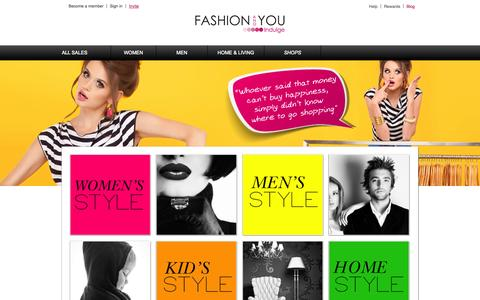 Screenshot of Blog fashionandyou.com - Online Shopping – The Latest Trends and luxury Brands at heavily Discounted Prices - captured Sept. 16, 2014