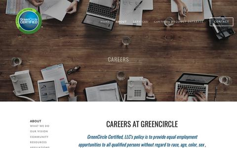 Screenshot of Jobs Page greencirclecertified.com - Careers — GreenCircle Certified - captured Sept. 30, 2018