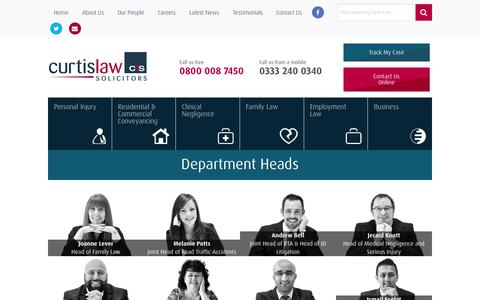 Screenshot of Team Page curtislaw.co.uk - Staff Members At Curtis Law - Employment Law Firm - captured Nov. 14, 2016