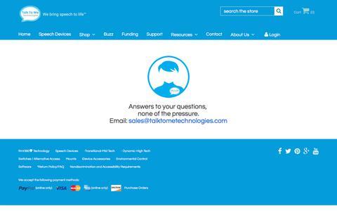 Screenshot of FAQ Page talktometechnologies.com - Contact a Speech-Language Pathologist /AAC Consultant | Talk To Me Technologies - captured Feb. 2, 2018