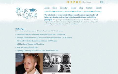 Media | Blue Lotus Buddhist Temple & Meditation Center