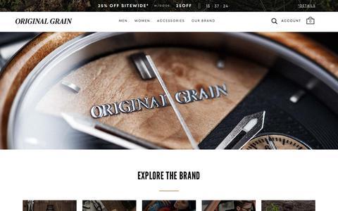 Screenshot of About Page originalgrain.com - About the Brand | Original Grain - captured Oct. 14, 2019