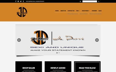 Screenshot of Home Page jadurre.com - Ja Durre' Fashions – Sexi and Unique…Make your statement known - captured Sept. 20, 2018