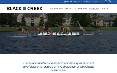 Screenshot of Signup Page blackcreekoutfitters.com - Lessons & Classes - Black Creek Outfitters - captured Aug. 2, 2018