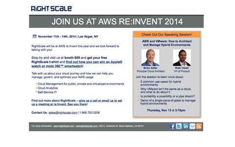 RightScale at AWS re:Invent 2014