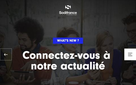 Screenshot of Press Page sodifrance.fr - what's new ? - Sodifrance - captured Nov. 7, 2018