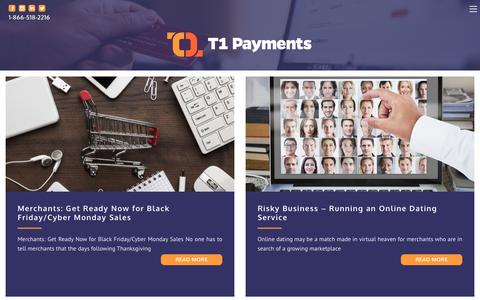 Screenshot of Press Page t1payments.com - News - T1 Payments - captured Nov. 6, 2018