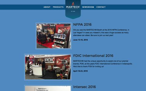Screenshot of Press Page martechsvcs.com - Newsroom - Martech Services - captured Nov. 17, 2016