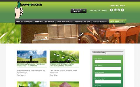 Screenshot of Blog lawndoctorfranchise.com - Lawn Doctor Franchise   Blog - captured Jan. 26, 2016