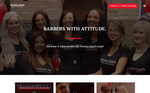 Screenshot of Jobs Page tommyguns.com - Careers – Tommy Gun's Original Barbershop - captured Oct. 24, 2017