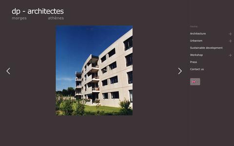 Screenshot of Home Page dp-architectes.ch - dp Architectes - Award-Winning Architect in Switzerland and in Greece - captured Aug. 8, 2018