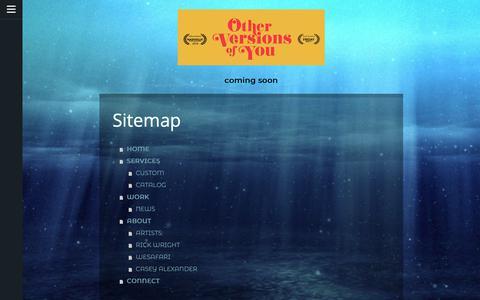 Screenshot of Site Map Page jimdo.com - Sitemap - Subtidal Studios Original Music - captured Nov. 4, 2018