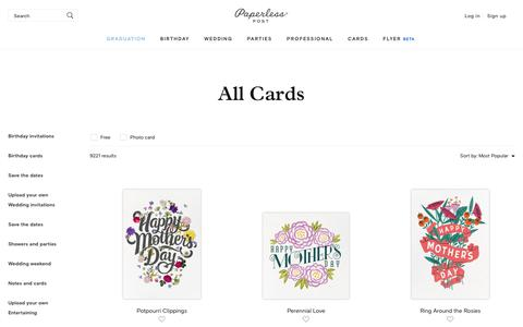 All Cards - online at Paperless Post