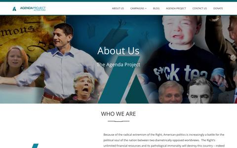 Screenshot of About Page apaction.com - About Us - captured May 21, 2016