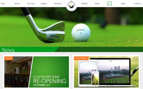 Screenshot of Press Page rcgcsl.com - Royal Colombo Golf Club|RCGC Sri Lanka|Colombo Golf Course - captured Oct. 23, 2017