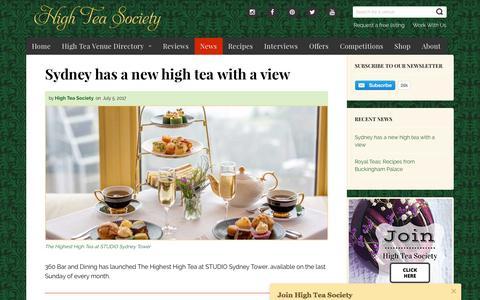 Screenshot of Press Page highteasociety.com - News - High Tea Society - captured Aug. 11, 2017