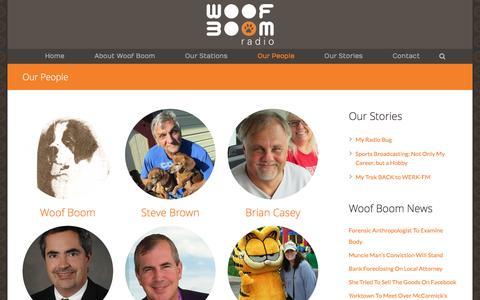 Screenshot of Team Page woofboom.com - Our People - Woof Boom Radio - captured Nov. 30, 2016