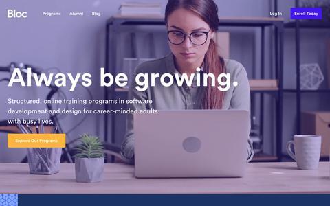 Bloc | Online Programs in Web Development, Mobile Development, and Design