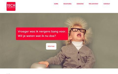 Screenshot of Home Page tech-department.com - TECH-department - captured Oct. 6, 2014