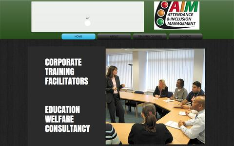 Screenshot of Home Page attendanceaim.co.uk - Attendance & Inclusion Mgmt. Training courses in improving attendance - captured Oct. 4, 2014