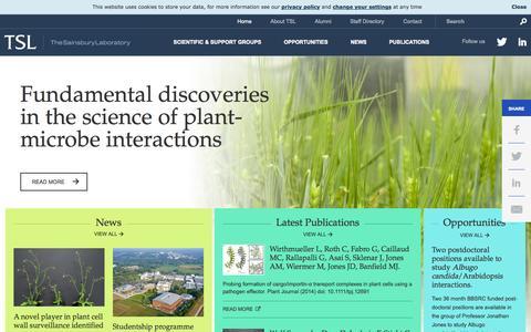 Screenshot of Contact Page tsl.ac.uk - Home - The Sainsbury Laboratory - captured Oct. 9, 2014