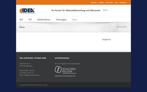 Screenshot of Press Page ims-firmen.de - IDEA Elektroniksysteme   –  News - captured Sept. 25, 2014