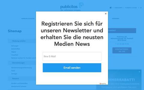 Screenshot of Site Map Page publicitas.ch - Sitemap | Publicitas - captured June 29, 2017
